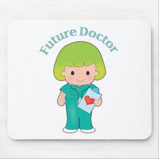 El doctor futuro Girl Alfombrilla De Ratones