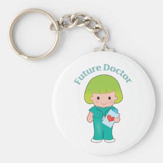 El doctor futuro Girl Llavero