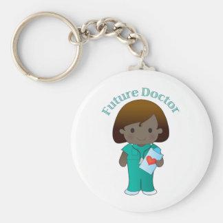 El doctor futuro Girl Llavero Personalizado