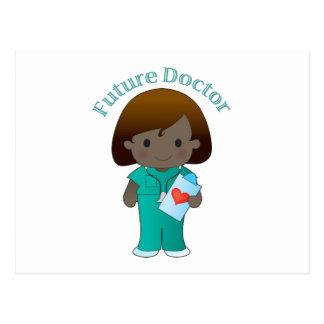 El doctor futuro Girl Postal