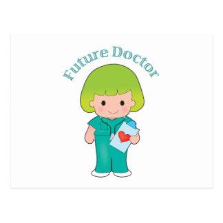 El doctor futuro Girl Tarjeta Postal