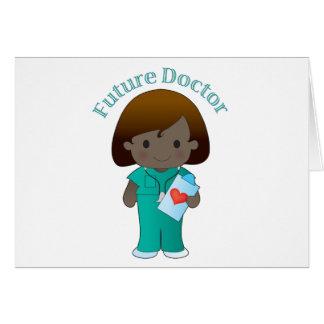 El doctor futuro Girl Tarjetas