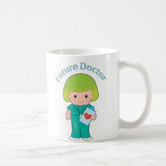 El doctor futuro Girl Tazas De Café
