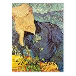 El doctor Gachet Portrait de Van Gogh, gracias Postales