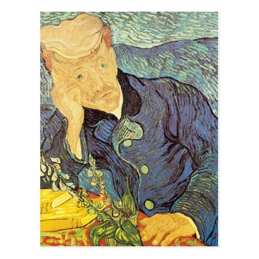 El doctor Gachet Portrait de Vincent van Gogh Tarjetas Postales
