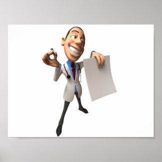 El doctor Holding Some Paper Poster