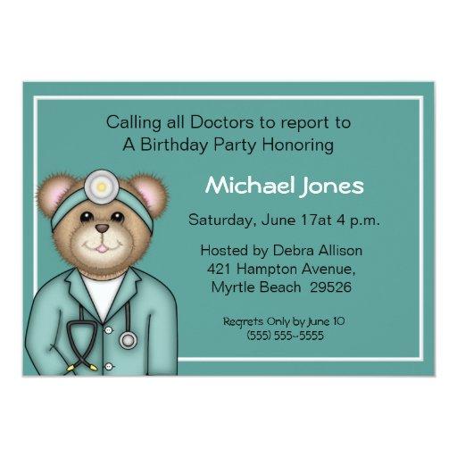 El doctor Invitations de los niños Invitación