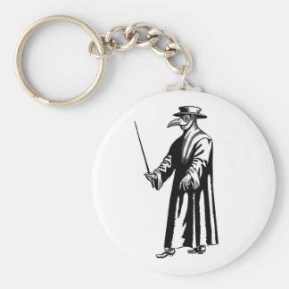 El doctor Keychain de la plaga Llavero Redondo Tipo Pin