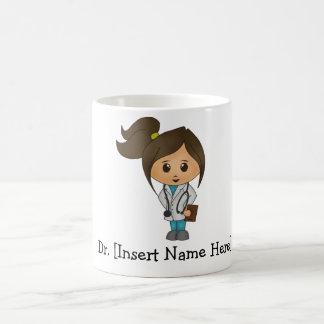El doctor lindo personalizado Female Tazas De Café