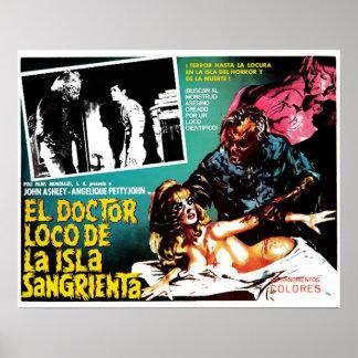 El Doctor Loco De La Isla Sangrieta Poster