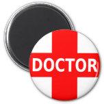 El doctor Logo Imán Redondo 5 Cm