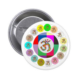 El doctor Mantra - cante a palillo de 108 veces 10 Pin Redondo De 2 Pulgadas