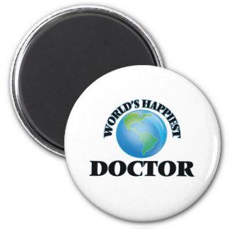 El doctor más feliz del mundo imán redondo 5 cm