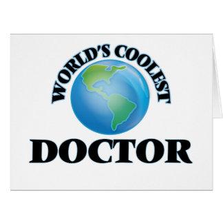 El doctor más fresco del mundo tarjeta de felicitación grande