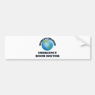 El doctor más grande de la sala de urgencias del pegatina para coche