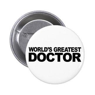 El doctor más grande del mundo pin redondo 5 cm