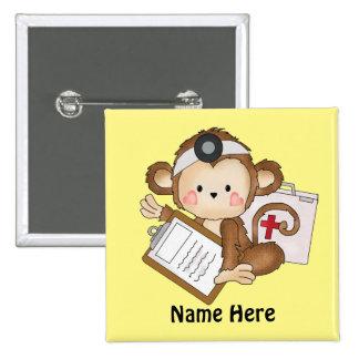 El doctor Monkey añade el botón de las palabras Pin Cuadrado