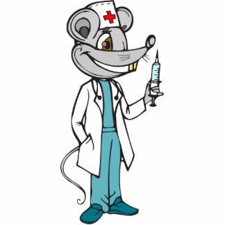 El doctor Nurse Mouse Escultura Fotografica