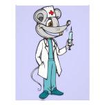 El doctor Nurse Mouse Tarjetas Informativas