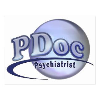El DOCTOR OF PSYCHIATRY PSYCHIATRIST LOGO de PDoc Tarjeta Postal