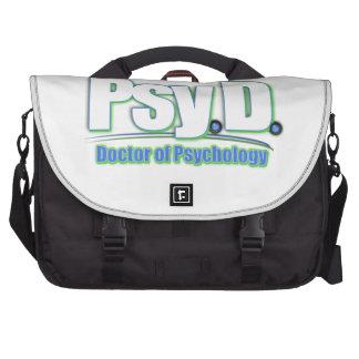 El DOCTOR OF PSYCHOLOGY de PsyD LOGO2 Bolsas Para Portatil