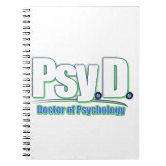 El DOCTOR OF PSYCHOLOGY de PsyD LOGO2 Spiral Notebook