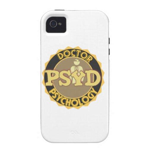 El DOCTOR OF PSYCHOLOGY PSYCHOLOGIST del LOGOTIPO  Vibe iPhone 4 Fundas