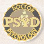 El DOCTOR OF PSYCHOLOGY PSYCHOLOGIST del LOGOTIPO  Posavaso Para Bebida