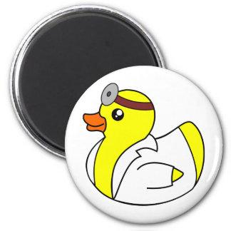 El doctor Quack el pato de goma Imán Redondo 5 Cm