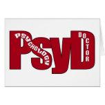 El DOCTOR ROJO GRANDE OF PSYCHOLOGY BOLD de PsyD Felicitación