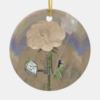 El doctor Rose Christmas Ornament de Rosegifts Adorno Redondo De Cerámica