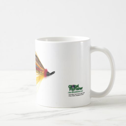 El doctor Salmon Fly Mug de Helmsdale Taza