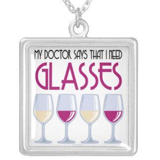 El doctor Says I Need Glasses Colgante Cuadrado