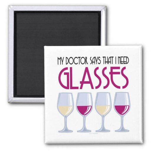 El doctor Says I Need Glasses Imán Cuadrado
