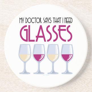 El doctor Says I Need Glasses Posavaso Para Bebida