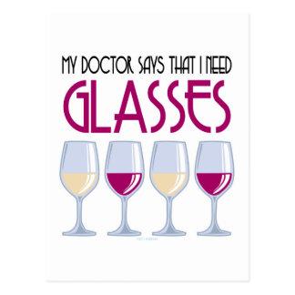El doctor Says I Need Glasses Postal