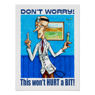 El doctor Says no se preocupa Posters