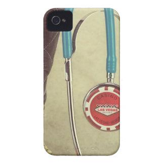 El doctor Stethoscope Casino Chip Nurse de bota de iPhone 4 Case-Mate Cobertura