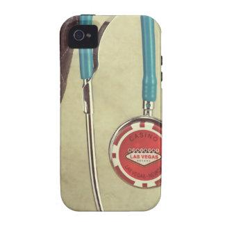 El doctor Stethoscope Casino Chip Nurse de bota de Vibe iPhone 4 Fundas