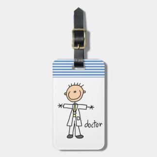 El doctor Stick Figure Etiquetas De Equipaje