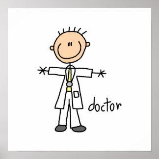 El doctor Stick Figure Poster