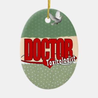 EL DOCTOR TOXICOLOGIST DEL LOGOTIPO ADORNO DE NAVIDAD