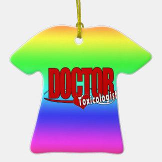 EL DOCTOR TOXICOLOGIST DEL LOGOTIPO ORNAMENTO DE NAVIDAD