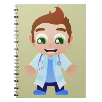 El doctor With Stethoscope Libreta