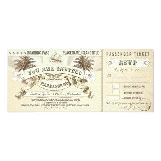 el documento de embarque del boda marca invitación 10,1 x 23,5 cm