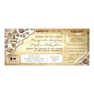 el documento de embarque náutico del boda marca anuncio personalizado