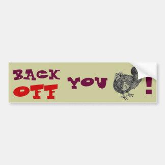 El Dodo retrocede Pegatina De Parachoque