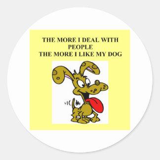 el dogf es mejor que gente pegatina redonda