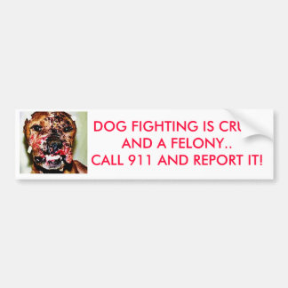 el dogfightingrev, LUCHA del PERRO ES CRUELAND al  Etiqueta De Parachoque