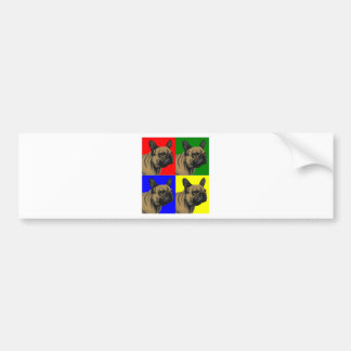 El dogo francés hace primario etiqueta de parachoque